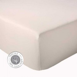 Drap housse Percale Tradilinge Beige