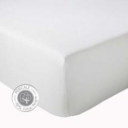 Drap housse Percale Tradilinge Blanc