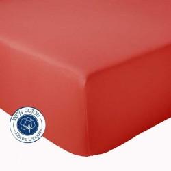 Drap Housse 100% coton Tradilinge  Corail