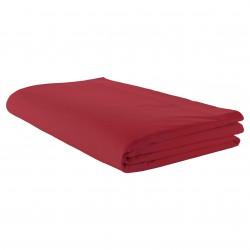 Drap plat 100% coton Rouge