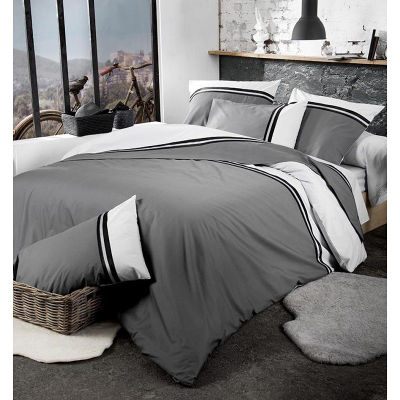 Housse de couette percale Tradilinge SMOKING