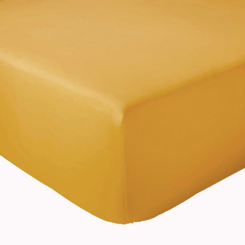 Drap Housse 100% coton Tradilinge Moutarde