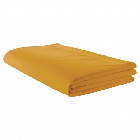 Drap plat 100% coton Moutarde