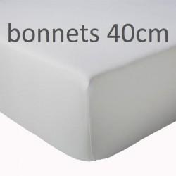 Drap housse Percale Bonnets 40cm TRADILINGE