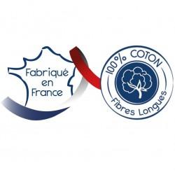 Drap plat 100% coton Corail