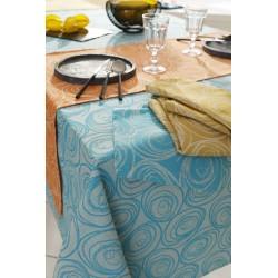 serviettes de table spirale couleurs