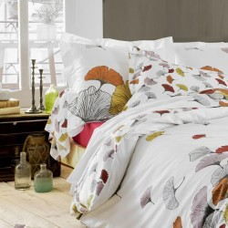 Drap percale Tradilinge GINKGO ROSE
