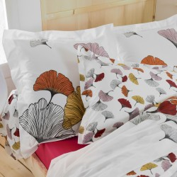Taie percale Tradilinge GINKGO ROSE