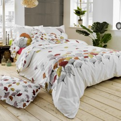 Housse de couette percale Tradilinge GINKGO ROSE