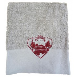 Déstockage - Serviette de toilette ALPAGE - lot de 2
