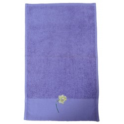 Déstockage - Serviette invité NARCISSE - lot de 2
