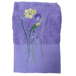 Déstockage - Serviette de toilette NARCISSE - lot de 2