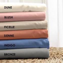 Drap en coton BIO - gamme AUTHENTIQUE - coloris Bronze