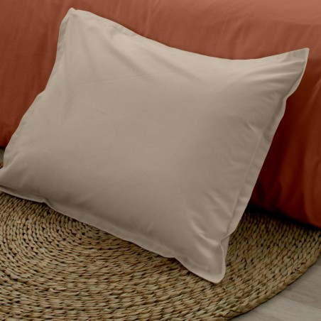 Taie d'oreiller en coton BIO - coloris Ficelle - gamme AUTHENTIQUE
