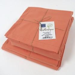 Drap en coton BIO - gamme AUTHENTIQUE - coloris Sienne
