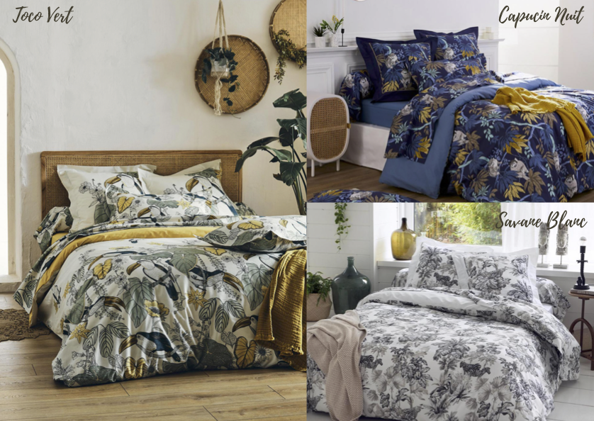 Tradilinge parure de lit d'été tendance tropicale