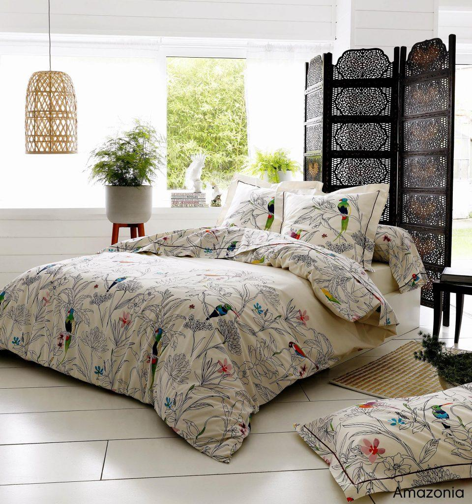 parure de lit fleurie amazonia