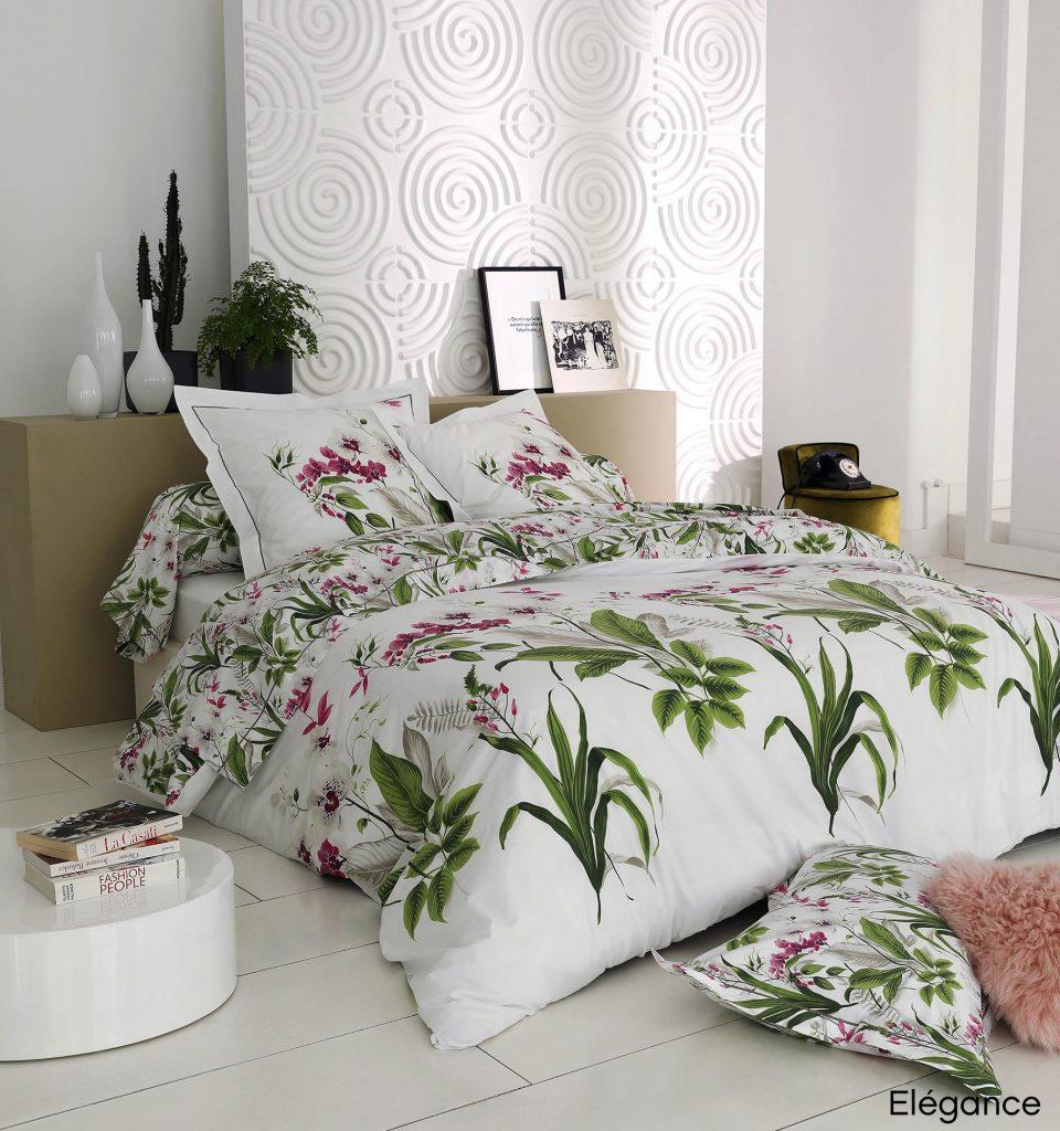 parure de lit fleurie elegance