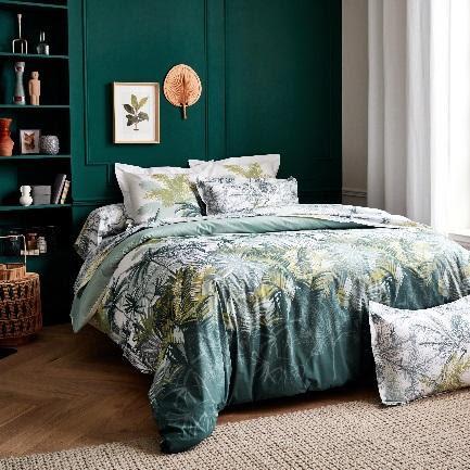 linge de lit percale de coton peigné - trinitad mousson