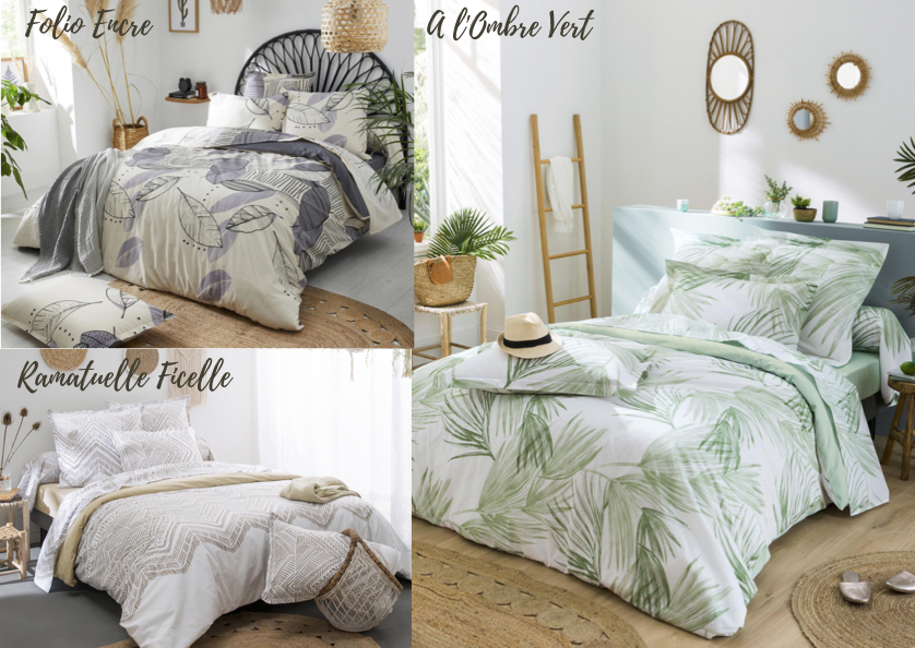 Tradilinge parure de lit d'été tendance naturelle